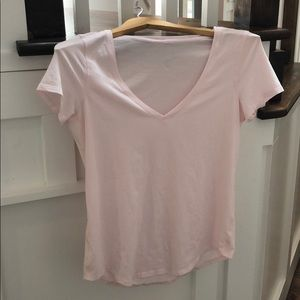 Lululemon pale pink cotton love tee